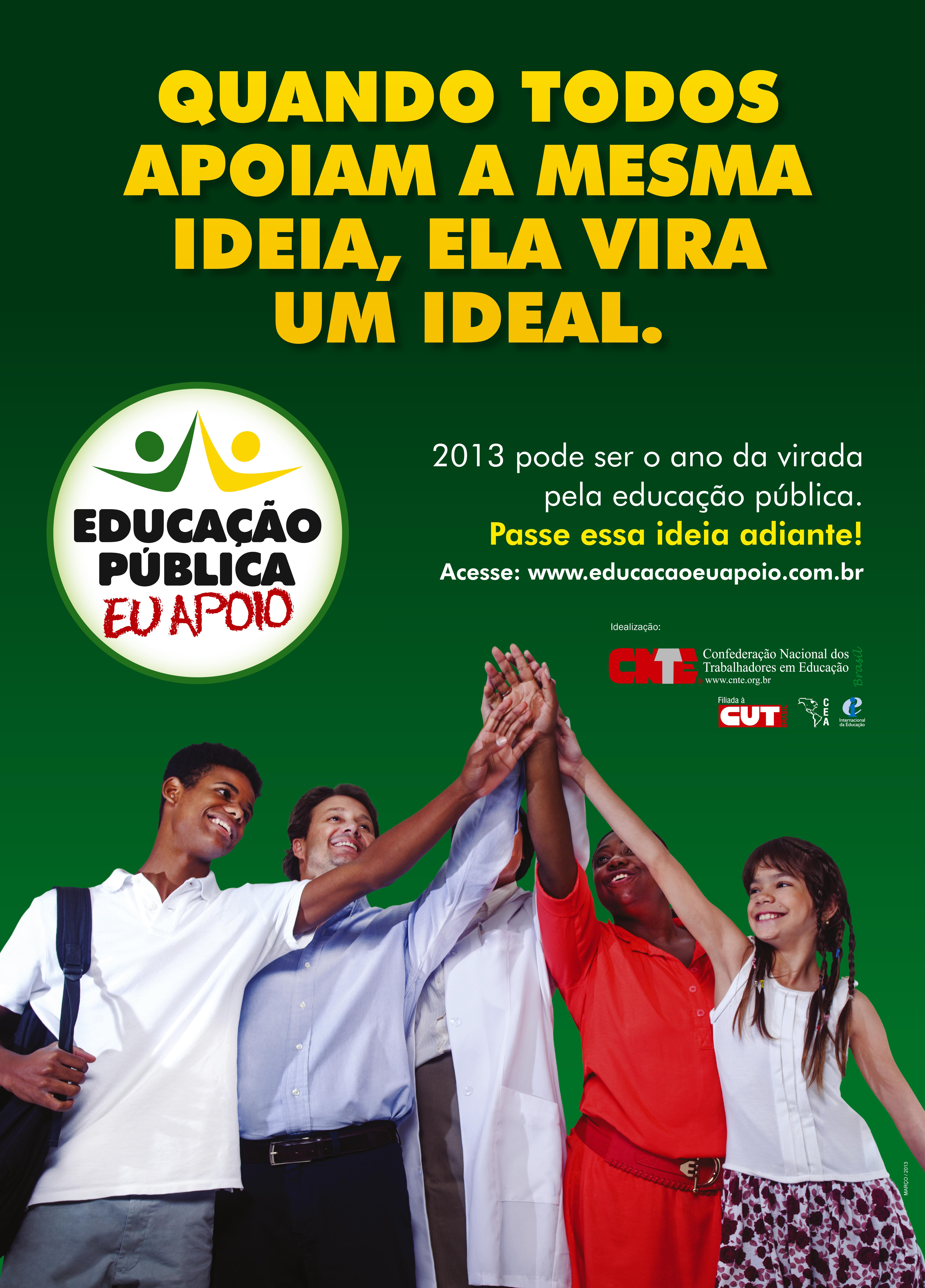 Apoie a educação pública: envie seu vídeo