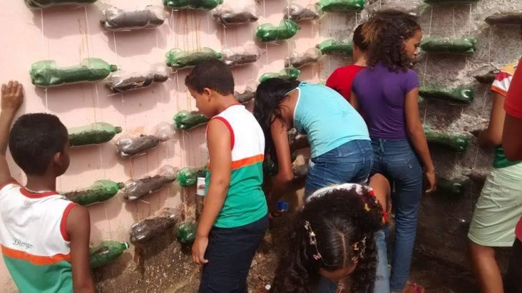 Alunos aprendem a fazer horta suspensa em Maragogi