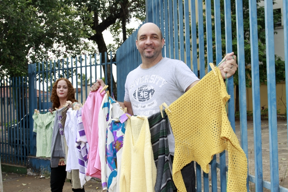Escola pública organiza varal solidário