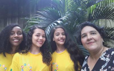 Estudantes da Escola Municipal Octávio de Meira Lins representam o Recife em Nova York
