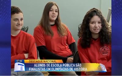 Estudantes de escolas públicas são finalistas da olimpíada de História